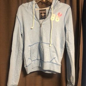 PINK light blue hoodie